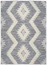 Alfombra Relieve Cheroky 9119 Blanco