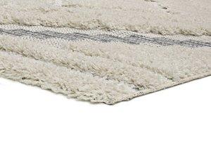 Alfombra Relieve Cheroky 9052 Blanco. Detalle de Textura