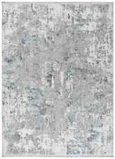 ALFOMBRA ABSTRACTA 23610 PLATA-AZUL