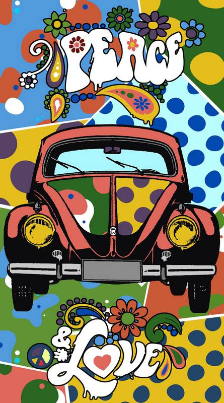 Toalla De Playa Volkswagen Escarabajo