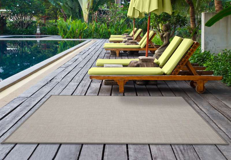 ALFOMBRA BEIGE SIMPLY  LISO