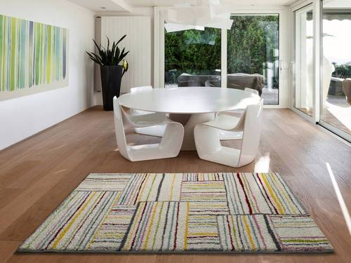 ALFOMBRA SHAGGY MULTICOLOR ATLAS 8631