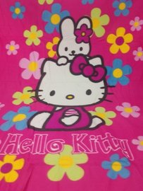 Plaid HELLO KITTY  flower